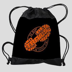 So Many Trails Angled Orange Full B Drawstring Bag