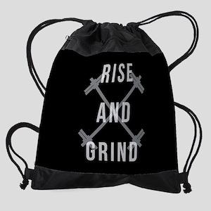 Rise and Grind Drawstring Bag