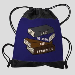I Like Big Books and I Cannot Lie Drawstring Bag