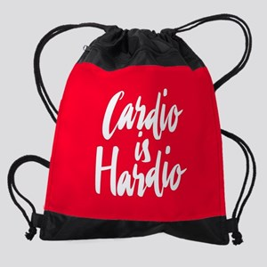Cardio is Hardio Drawstring Bag