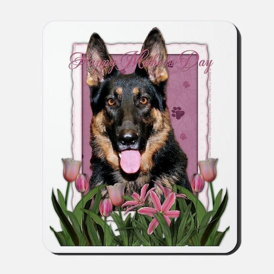PinkTulips_German_Shepherd Mousepad