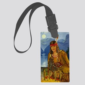 INDIAN MAIDEN Large Luggage Tag