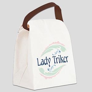 Lady Triker, Flourish Canvas Lunch Bag