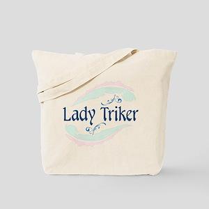 Lady Triker, Flourish Tote Bag