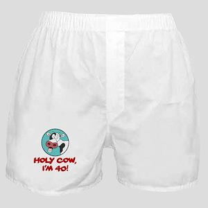 Holy Cow Im 40 Boxer Shorts