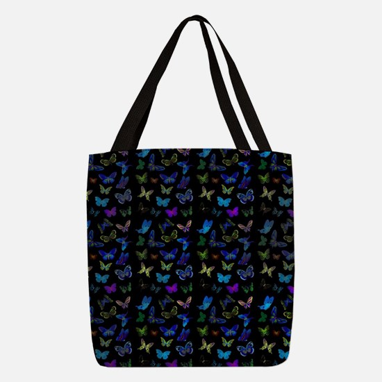 Blue and purple butterflies Polyester Tote Bag