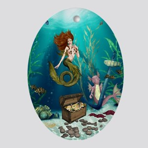 Best Seller Merrow Mermaid Ornament (Oval)