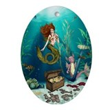 Irish mermaid Oval Ornaments