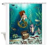 Irish mermaid Shower Curtains