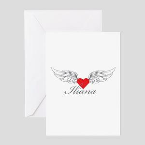 Angel Wings Iliana Greeting Cards