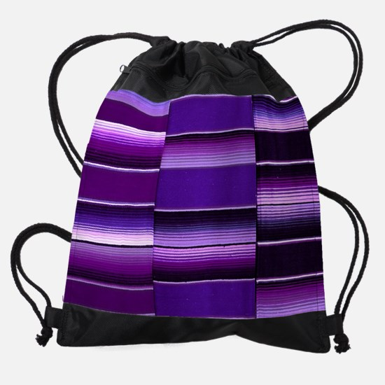 Purple serape Drawstring Bag