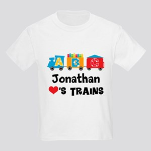 Personalized Kids Train Kids Light T-Shirt