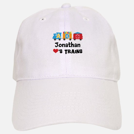 Personalized Kids Train Baseball Baseball Cap