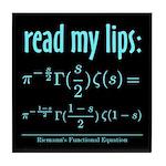 Riemann's Functional Equation Tile Coaster