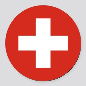 Switzerland Round Car Magnet
