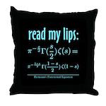 Riemann's Functional Equation Throw Pillow
