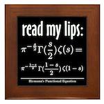 Riemann Functional Equation Framed Tile