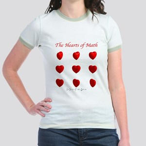 Hearts Surface/Curves Jr. Ringer T-Shirt