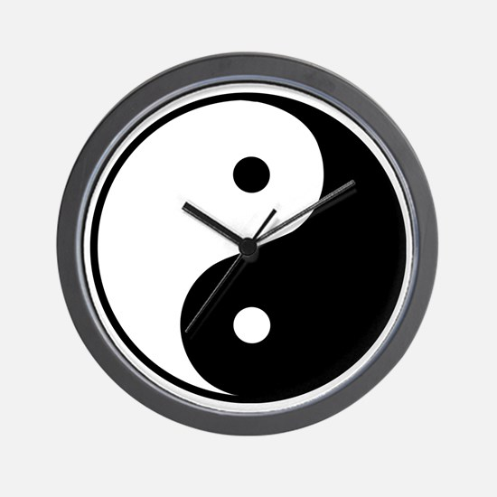 YinYang1 Wall Clock
