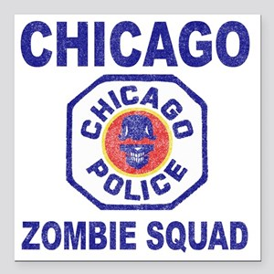 "chicago pd Square Car Magnet 3"" x 3"""