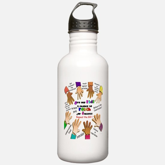 give our kids poster Water Bottle
