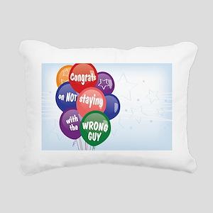 BreakUp Coach Congrats O Rectangular Canvas Pillow