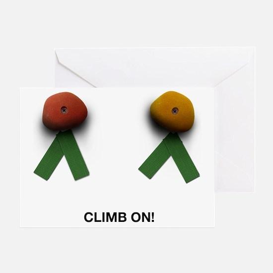 2-climbon Greeting Card