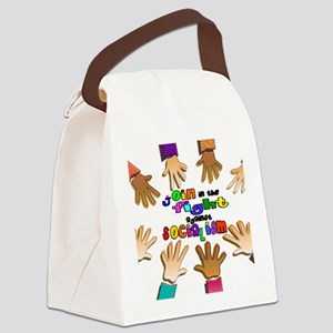 join the fight poster Canvas Lunch Bag