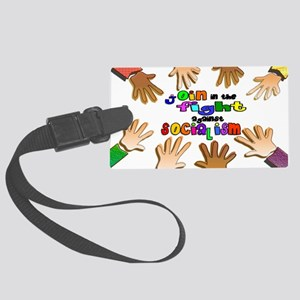 join the fight poster Large Luggage Tag