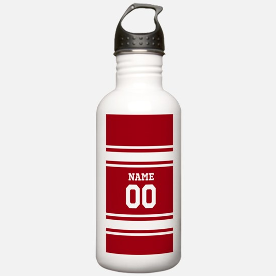 Sports Jersey Red White Water Bottle