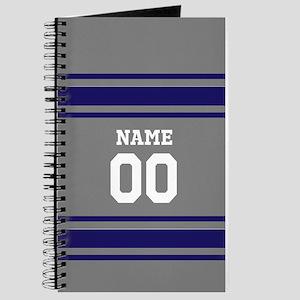 Sports Jersey Gray BLue Journal