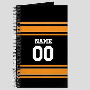 Sports Jersey Black Orange Journal