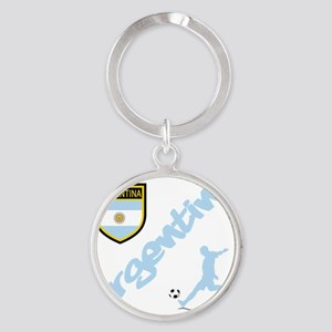 4-argentina Round Keychain