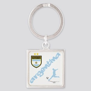4-argentina Square Keychain