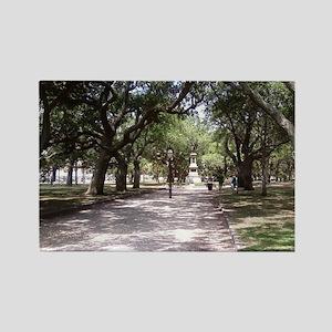 Whitepoints Garden Charleston Sou Rectangle Magnet