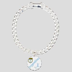 4-argentina Charm Bracelet, One Charm