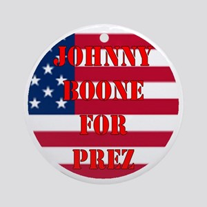 johnny for prez Round Ornament