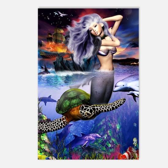 mermaidposter Postcards (Package of 8)