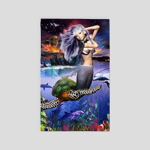 mermaidposter 3'x5' Area Rug