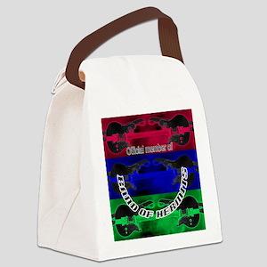 7 sm button try 5 tri-color guita Canvas Lunch Bag