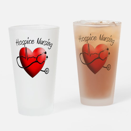 Hospice Nurse Drinking Glass