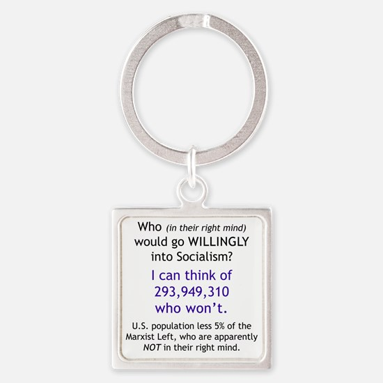 Willingly Square Keychain