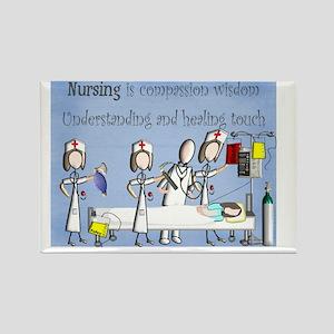 Nurse Art poster Rectangle Magnet