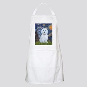 Starry Night - Maltese (B) - square Apron