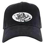 Crochet Mantra Baseball Hat Black Cap With Patch