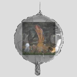 Mid Eve - Maltese (B) - square Mylar Balloon