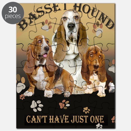 Basset Hounds Cant Have Just One Puzzle