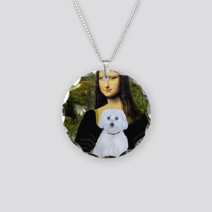 MP-Mona Lisa - Maltese (B) Necklace Circle Charm