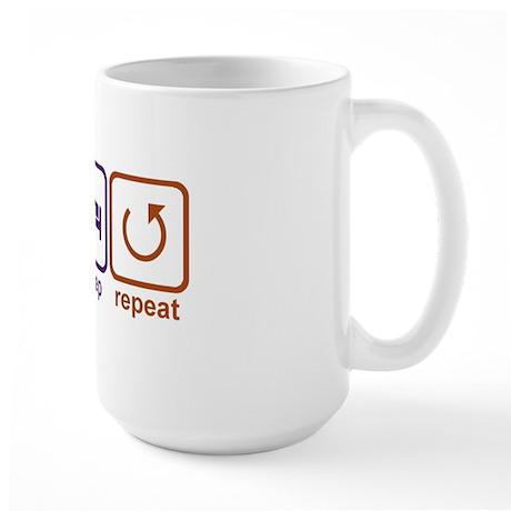 Eat sleep repeat-1 Large Mug