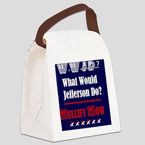 WWJD_NULLIFY_Lg_Sq Canvas Lunch Bag